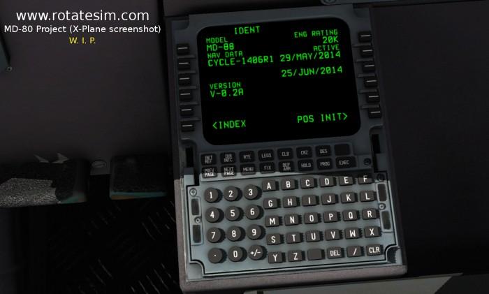 MD-80 screenshot FMC 01 IDENT