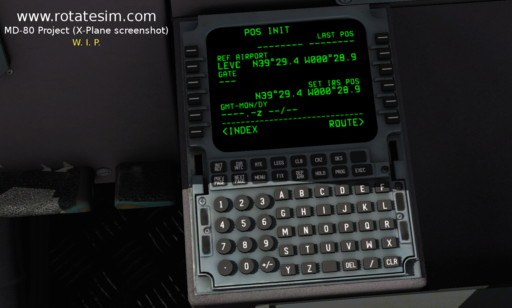 MD-80 screenshot FMC 02 POS INIT