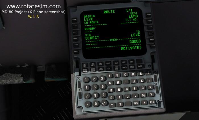 MD-80 screenshot FMC 03 ROUTE