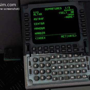 MD-80 screenshot FMC 04 DEPARTURES SIDS