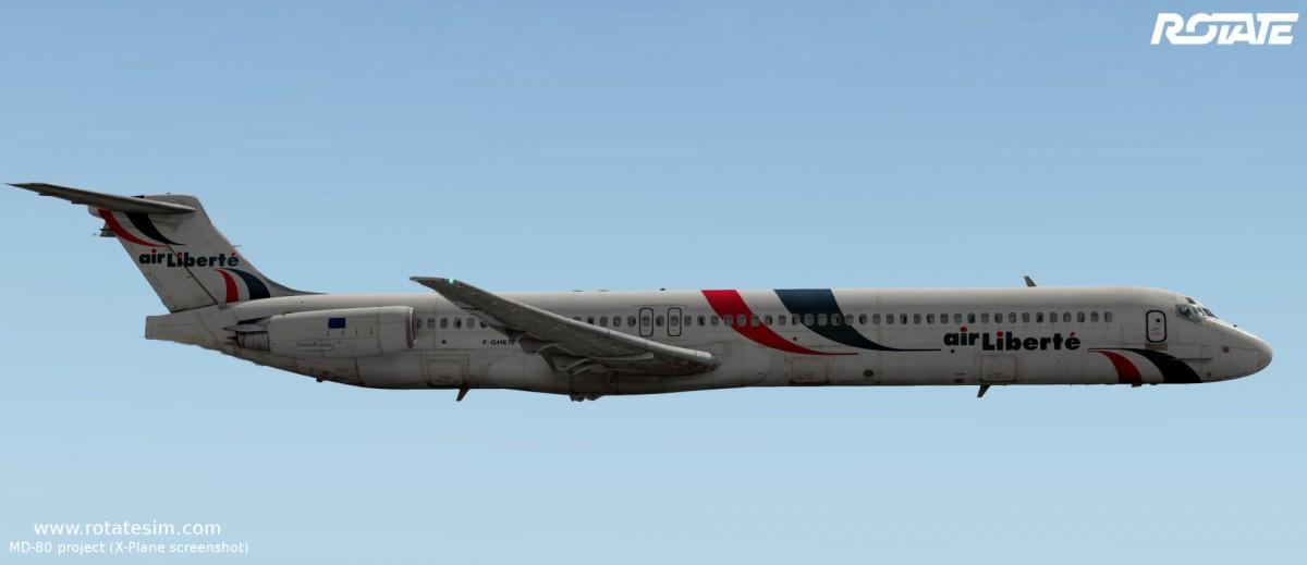 MD-80 liveries - Air Liberté