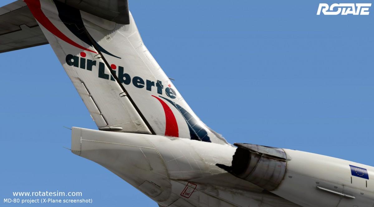 MD-80 liveries - Air Liberté tail