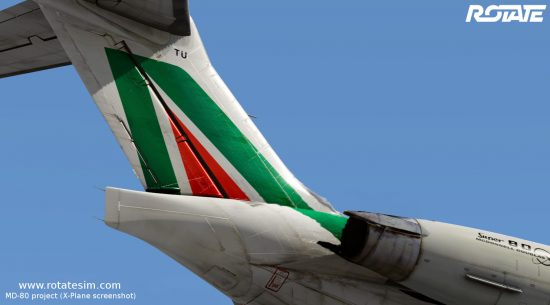 MD-80 liveries - Alitalia tail