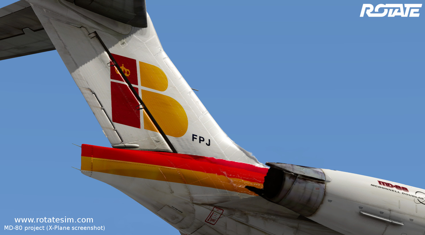MD-80 liveries - Iberia tail