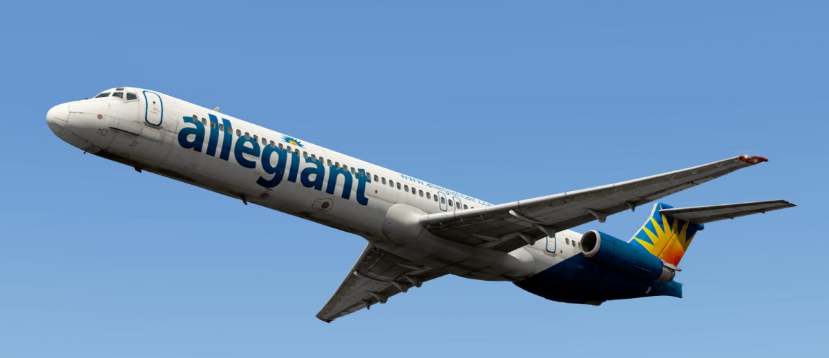 MD-80 Allegiant livery